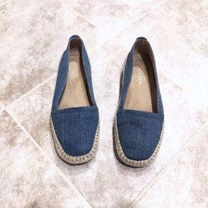 🆕 AEROSOLES denim espadrilles flats shoes 7.5